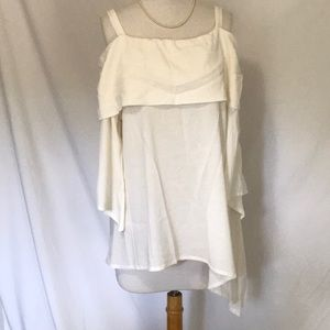 Soft Surroundings Ivory Cotton top size Large